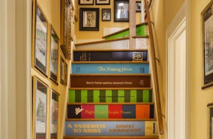 12 Beautiful Bookish Staircases, Decals, And Risers