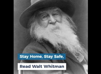 Stay Home, Stay Safe, Read Walt Whitman
