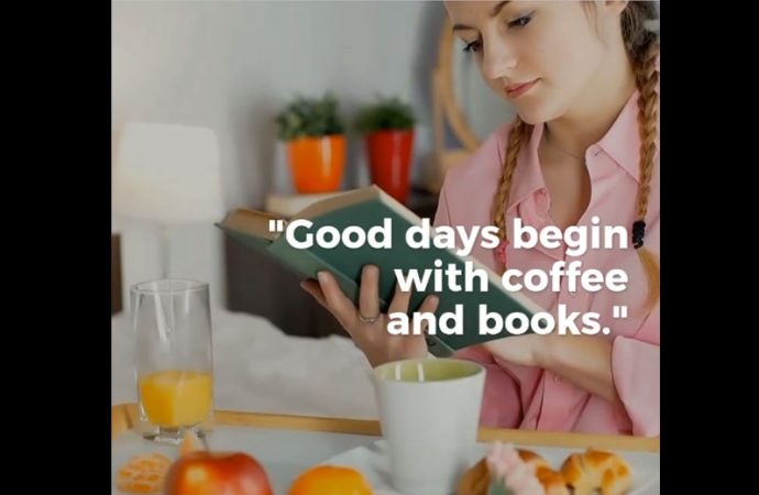 Good Days Begin With Coffee And Books | Coffee Date With A Book